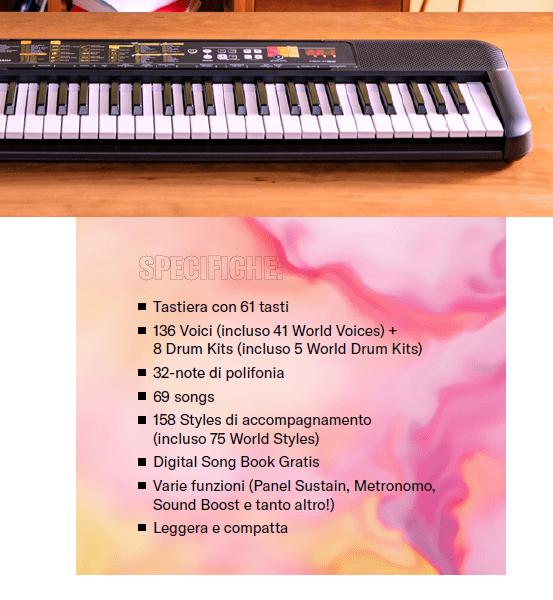 La tastiera a 61 tasti Yamaha F-52